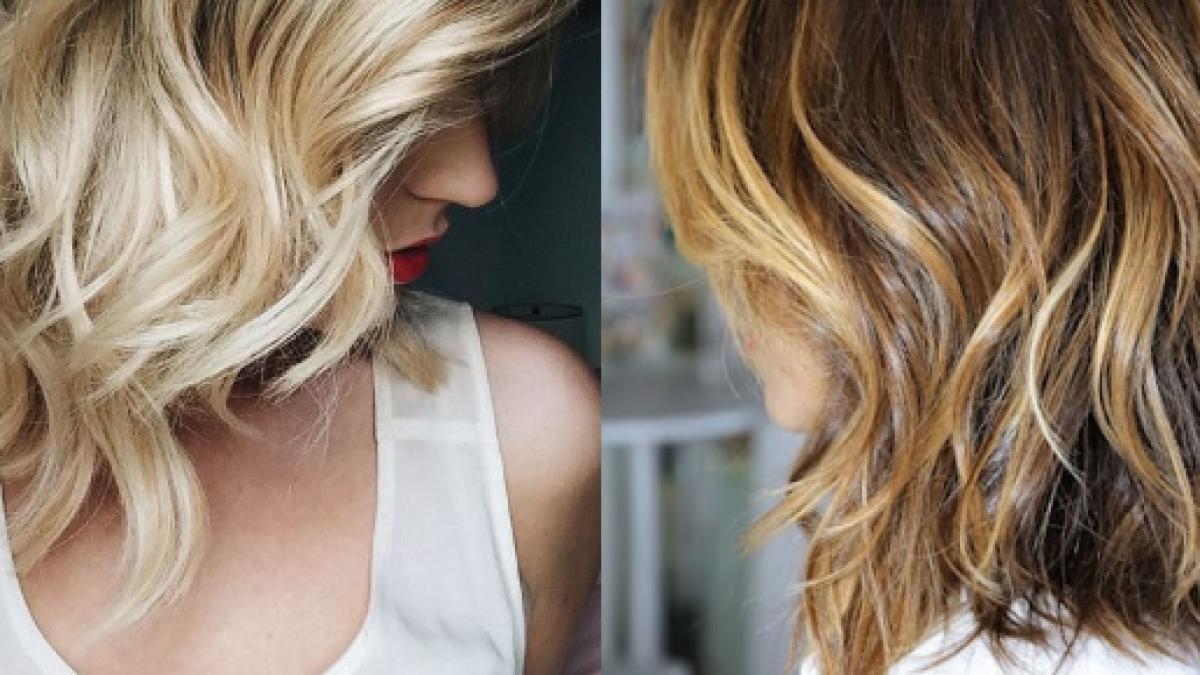 Taglio di capelli mossi medi
