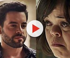 Pedro Carvalho e Juliana Caldas vivem, respectivamente, Amaro e Estela na novela das nove da Globo