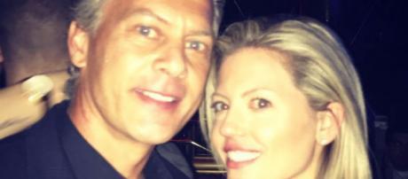 David Beador and girlfriend Lesley pose together in Las Vegas. [Photo via Instagram]