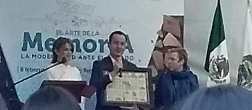 Edgar Ramírez, el director del Museo Regional de Cholula celebrando su patrimonio.