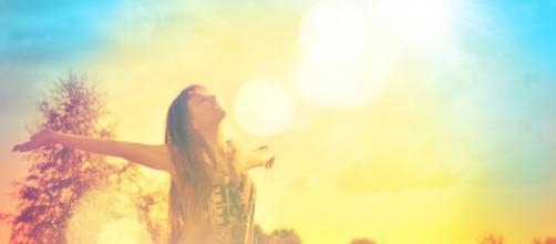 Felicidade é abrir o coração para as coisas boas da vida