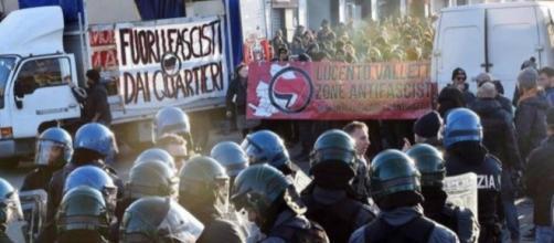 Gli scontri a Piacenza (fonte della foto: https://immagini.quotidiano.net)