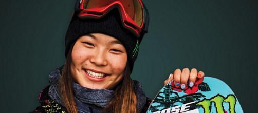 La star américaine Chloe Kim en or
