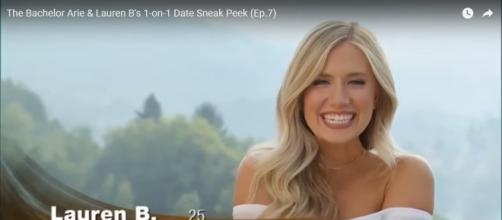 Lauren B. is excited about her one-on-one date - YouTube/Anna Marie's BachelorTV