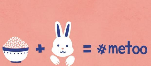 An illustration showing how the Chinese term Rice Bunny relates to the #MeToo move. http://www.abc.net..