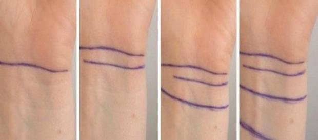 As linhas no pulso podem dizer muito sobre a pessoa
