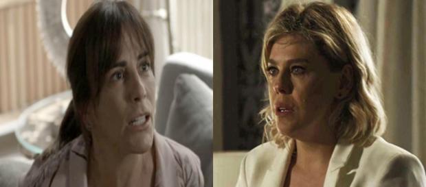 Beth acerta as contas com Jô. (Foto: Divulgação TV Globo)