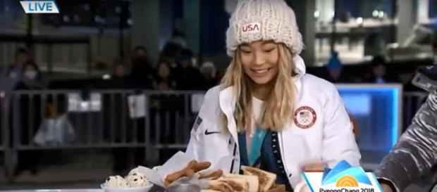 Chloe Kim has her own breakfast ideas, and other support strategies, in striking Olympic gold. TODAY/YouTube