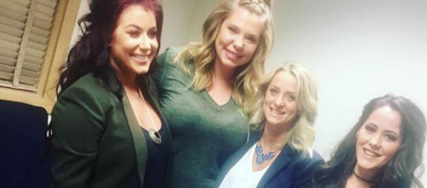 The 'Teen Mom 2' cast films a reunion special. - [Photo via Facebook]