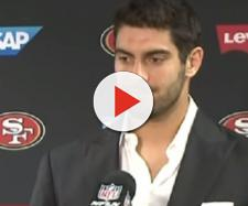 Jimmy Garoppolo signed a five-year deal worth $137.5 million with 49ers. - [Image Credit: CBS SF Bay Area / YouTube screencap]