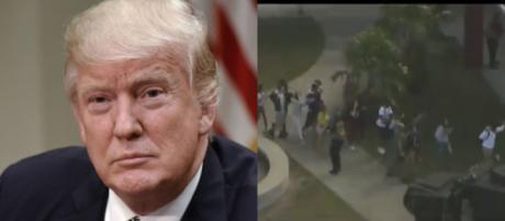 Donald Trump on school shooting, via Twitter