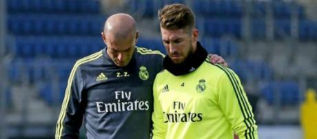 Sergio Ramos le pide a Zidane un cambio en el once - diez.hn