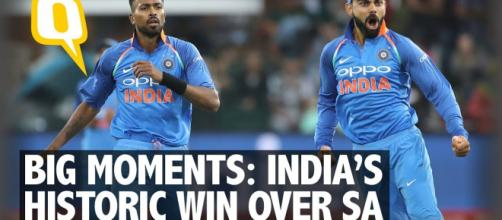 India record an historic win over South Africa. Image credit- the Quint- Youtube.com