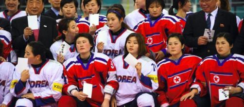 Un equipo coreano de hockey sobre hielo apunta a algo más que simbolismo contra Japón.