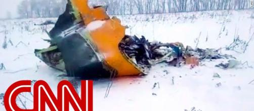 Wreckage of Russian plane. (Image credit: CNN/Youtube)
