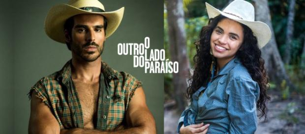 O garimpeiro Xodó se apaixona por Cléo em ''O Outro Lado do Paraíso'' (Montagem/Telma Myrbach)