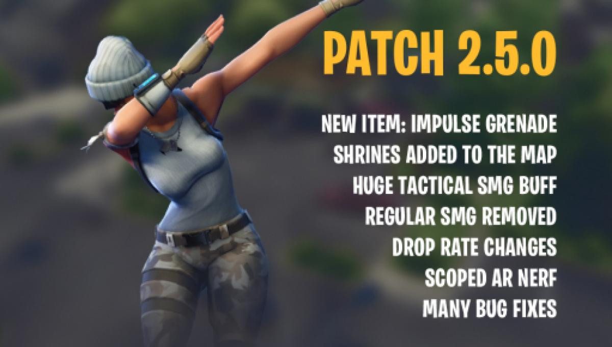 Fortnite' Battle Royale V 2 5 0 patch is out