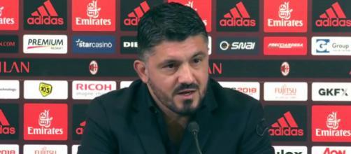 Gattuso in conferenza stampo nel post partita
