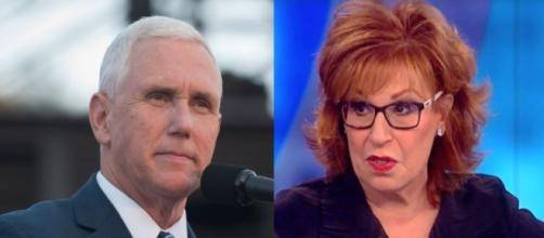 Mike Pence, Joy Behar, via Twitter