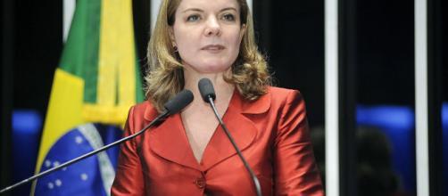 Presidente do PT, Gleisi Hoffmann, faz duras críticas ao presidente Temer por causa da intervenção no RJ (crédito: internet)