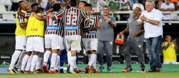 Em sua melhor partida na temporada, Flu garante vaga na terceira fase da Copa do Brasil (Foto: Lucas Merçon/Divulgação FFC)