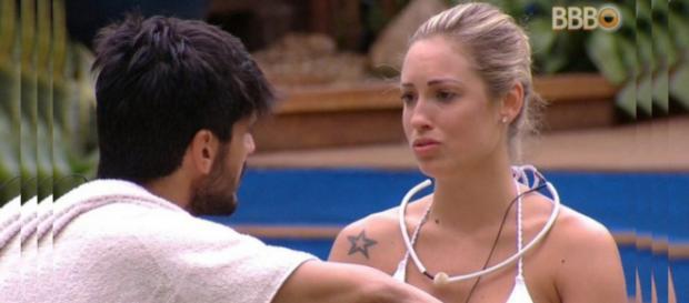 Lucas quer Jéssica longe dele, no ''BBB18''