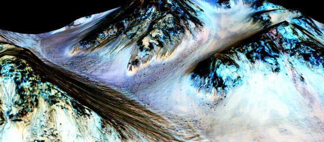 Evidencia de agua líquida encontrada en Marte