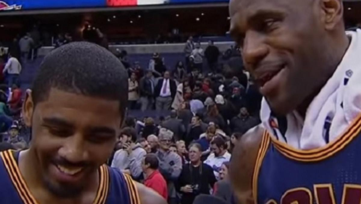 70631c7857b Is Kyrie Irving open to playing with LeBron James again