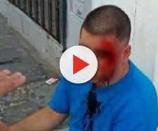 Homem é agredido no meio da rua