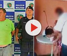 Padrasto filmado abusando da enteada de 12 anos é apresentado pela PM, em Aparecida de Goiânia