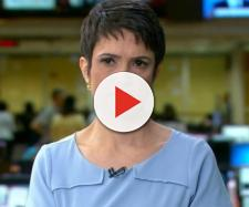 Sandra Annenberg aparece com olho roxo