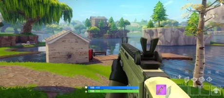 """""""Fortnite"""" Battle Royale in the first-person point of view. Image Credit: DanMak / YouTube"""