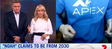 Suposto viajante do tempo é destaque em tradicional emissora da Austrália (Sunrise)