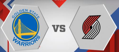 Golden State Warriors vs Portland Trail Blazers (Image via Motion Station/YouTube screencap)