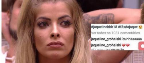 Jaqueline paga mico no Instagram