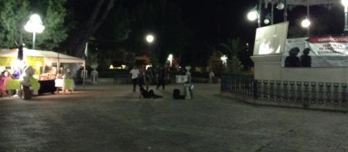 La Plaza de Tehuacán Puebla se presta a proyecciones de cine dominicales.