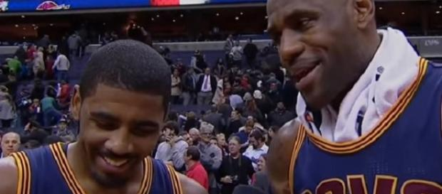 A reunion is possible for Kyrie Irving and LeBron James (Image Credit: FOX Sports Ohio/YouTube)