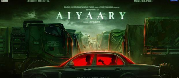 Aiyaary (2018) Hindi Movie Review, Trailer, Poster - (Image via Filmnstars)