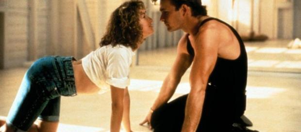 Baby y Johnny en su practica de baile