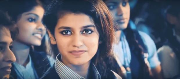 Priya Prakash Varrier wink goes viral (Image: NDTV/Youtube)