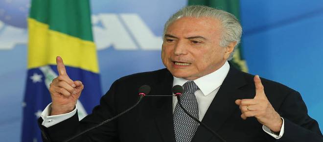 Por segurança, Temer assina decreto de intervenção federal no RJ