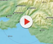 Un terremoto in Galles sabato 17 febbraio 2018