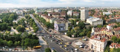 Vista do centro da capital búlgara, Sofia
