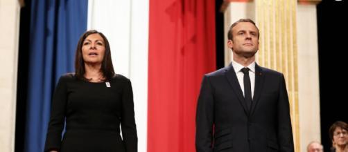 Anne Hidalgo et Emmanuel Macron - Le président de la République ... - purepeople.com
