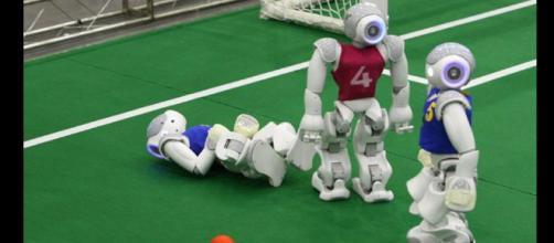 En el fútbol también los robot dicen presente.