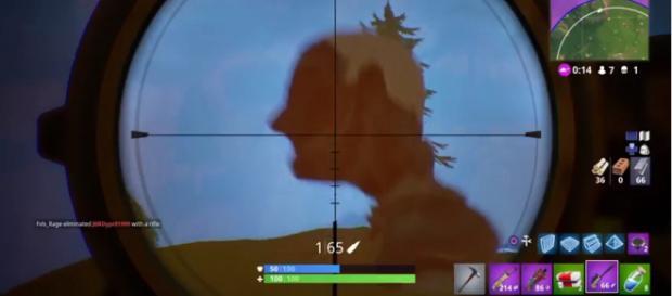 A screenshot of a giant head in 'Fortnite' - (Image Credit: dahdahdahdoink/YouTubescreencap)
