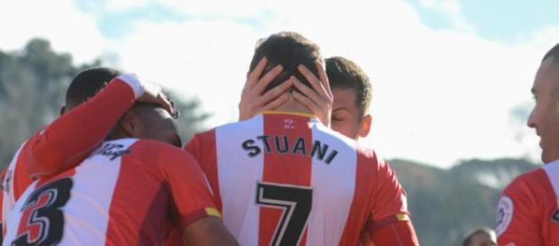 Stuani, clave en los éxitos del Girona esta temporada