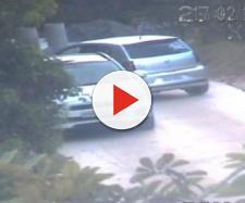 Momento da abordagem do carro da bancária pela polícia no Morro do Moreno - Foto: Reprodução/ TV Gazeta