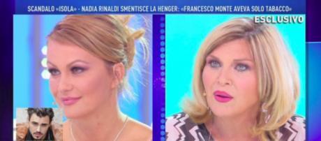 Il faccia a faccia tra Eva Henger e Nadia Rinaldi a Domenica Live sul caso Francesco Monte