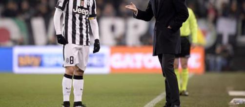 Allegri e Marchisio in un'immagine di repertorio